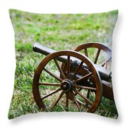 Cannon Fire Throw Pillow