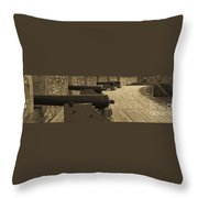 Cannons At Louisberg Fortress Throw Pillow