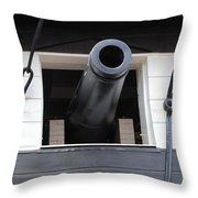 Cannons Uss Constellation  Throw Pillow