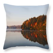 Canoe Lake  Algonquin Throw Pillow