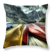 Canoes 2 Throw Pillow