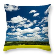 Canola Field, Brookfield, Prince Edward Throw Pillow