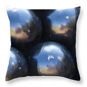 Canon Balls Throw Pillow