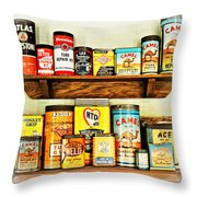 Cans Of Old Throw Pillow