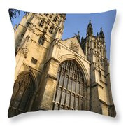 Canterbury Cathedral, Low Angle View Throw Pillow