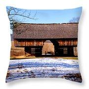 Cantilever Barn Throw Pillow