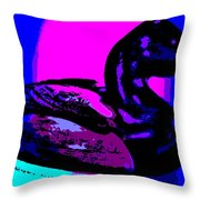 Canvasback Floating At Sunrise Throw Pillow