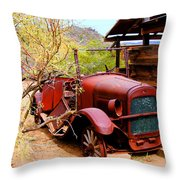 Canyon Creek Ranch Transportation Throw Pillow