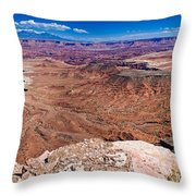 Canyon In Canyonlands Throw Pillow