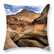 Canyon Pool Throw Pillow