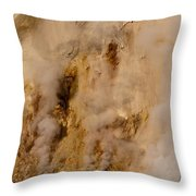Canyon Steam Vents In Yellowstone National Park Throw Pillow