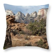 Canyon Trail Overlook Throw Pillow