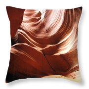 Canyon Waves Throw Pillow