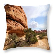 Canyonlands Needles Trail Throw Pillow
