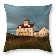 Cape Cod Coast Guard Station Throw Pillow