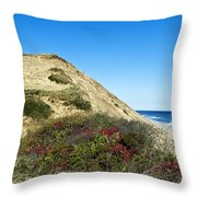 Cape Cod Dune Cliff Throw Pillow