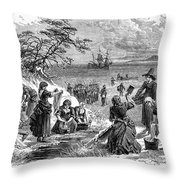 Cape Cod: Pilgrims Throw Pillow