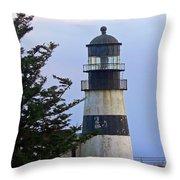 Cape D Lighthouse Throw Pillow