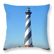 Cape Hatteras Lighthouse - Outer Banks - Christmas Card Throw Pillow