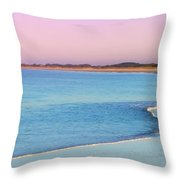 Cape May Light House Panorama Throw Pillow