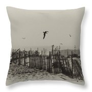 Cape May Morning Throw Pillow by Bill Cannon