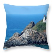 Cape Mears Lighthouse Throw Pillow