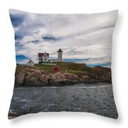 Cape Neddick Light Station Throw Pillow