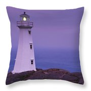 Cape Spear Lighthouse At Twilight, Cape Throw Pillow