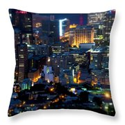 Cape Town's Tilt Shift  Throw Pillow