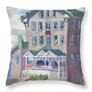 Cape Vincent Ny Fisheries Building Throw Pillow