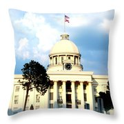 Capitol Building In Montgomery Throw Pillow