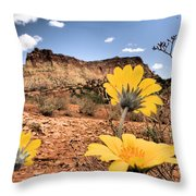 Capitol Flowers Throw Pillow