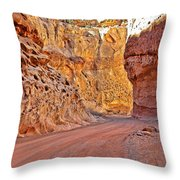 Capitol Gorge Trail At Capitol Reef Throw Pillow