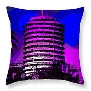 Capitol Records Building Throw Pillow