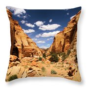 Capitol Reef Cohab Canyon Throw Pillow
