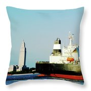 Capitol View Mississippi River Throw Pillow