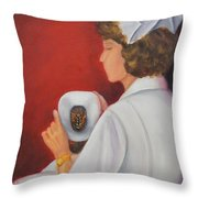 Capping A Tradition Of Nursing Throw Pillow