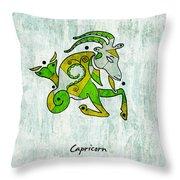 Capricorn Artwork Throw Pillow