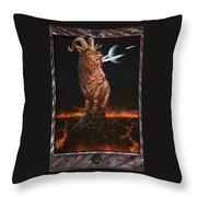 Capricorn The Deliverer Throw Pillow