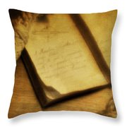 Captain's Journal Throw Pillow