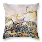 Capture Of Fort Fisher 15th January 1865 Throw Pillow