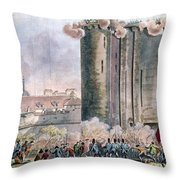 Capture Of The Bastille Throw Pillow by Granger