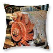 Car Alternator Throw Pillow