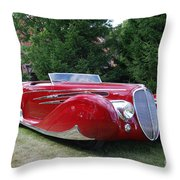 Car At Meadowbrook Throw Pillow