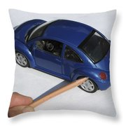 Car Bought From Faa Sales Throw Pillow