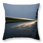 Car Lights At Night Throw Pillow
