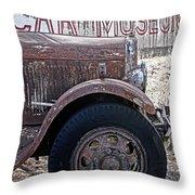 Car Museum Throw Pillow