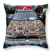 Car Of Teeth Throw Pillow