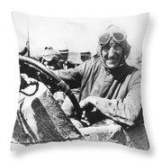 Car Race, 1920 Throw Pillow