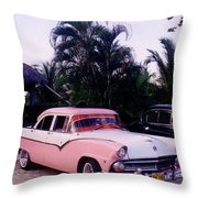 Car Show At The Resort Throw Pillow